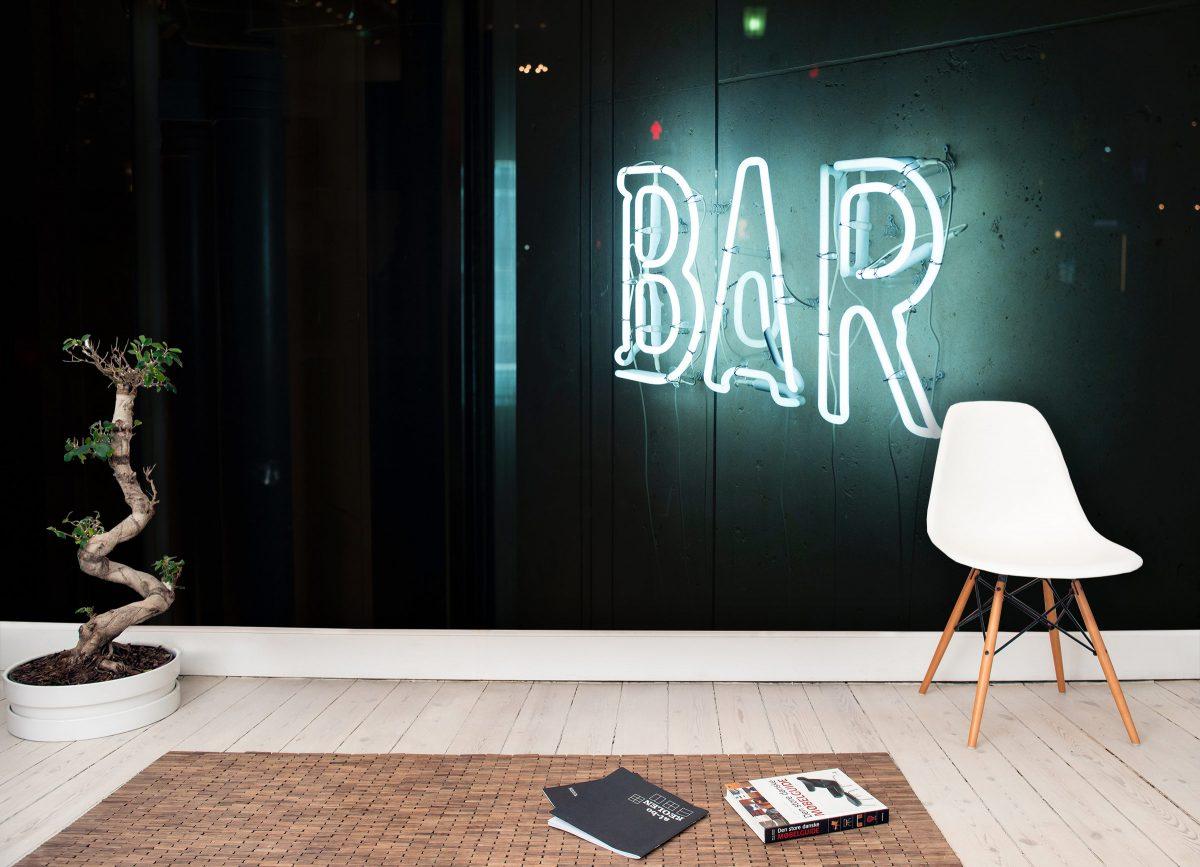 Neon Stripe Bar
